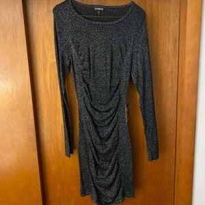 Express sparkly scrunchy dress